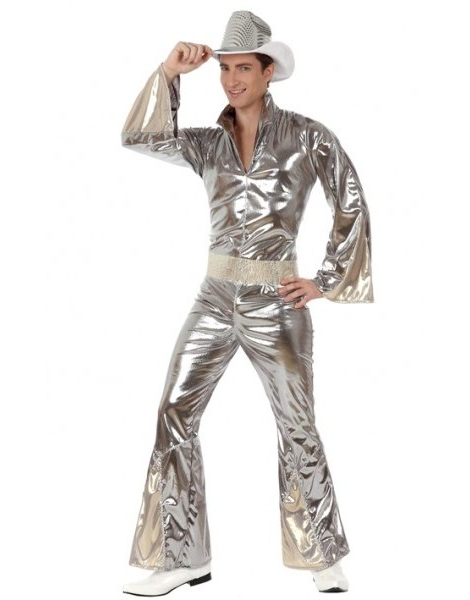 Disfraz Chico Disco Plata