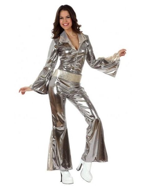 Disfraz Chica Disco Plata
