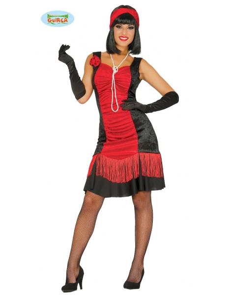 Disfraz Charleston Roja