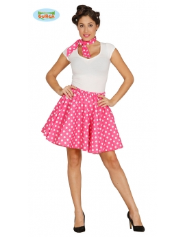 Disfraz Chica Pin Up Rosa Años 50
