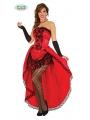 Disfraz de Burlesque Can-can rojo